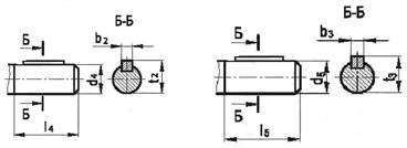 Редукторы цилиндрические одноступенчатые 1ЦУ 100. Размеры цилиндрических валов редукторов